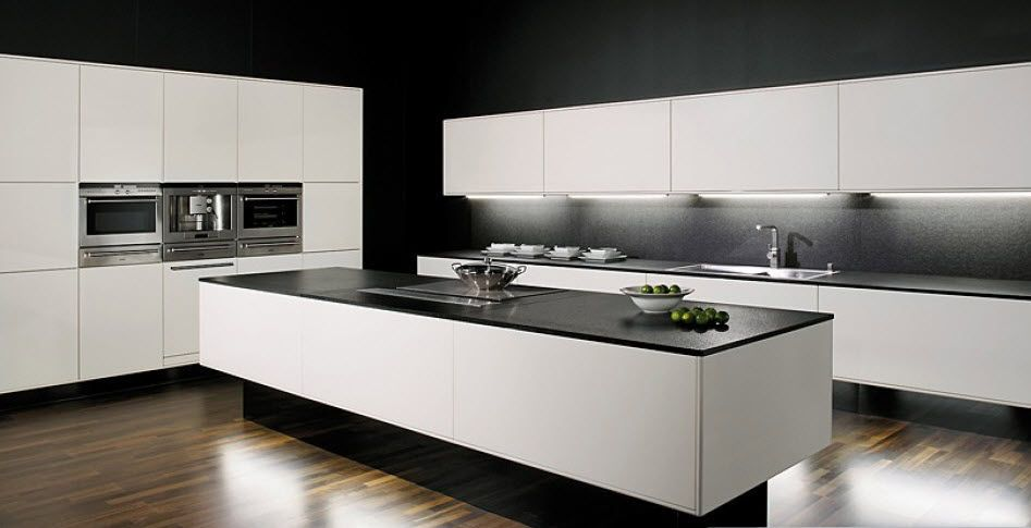 Cuisine contemporaine allmilmoe Kitchens, Kitchen design and Modern