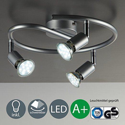 LED Deckenleuchte Schwenkbar Inkl 3 x 3W Leuchtmittel 230V GU10