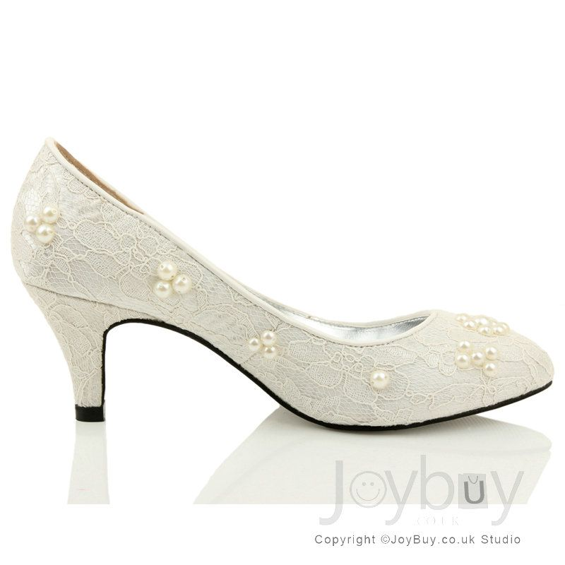 wedding-shoes-low-heelflowers-lace-white-shoes-for-wedding-low ...