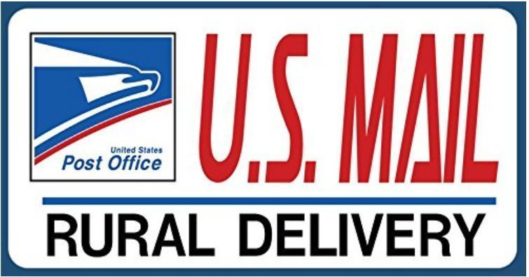 U S  Mail Delivery Decal Sticker  Rural Delivery Carrier