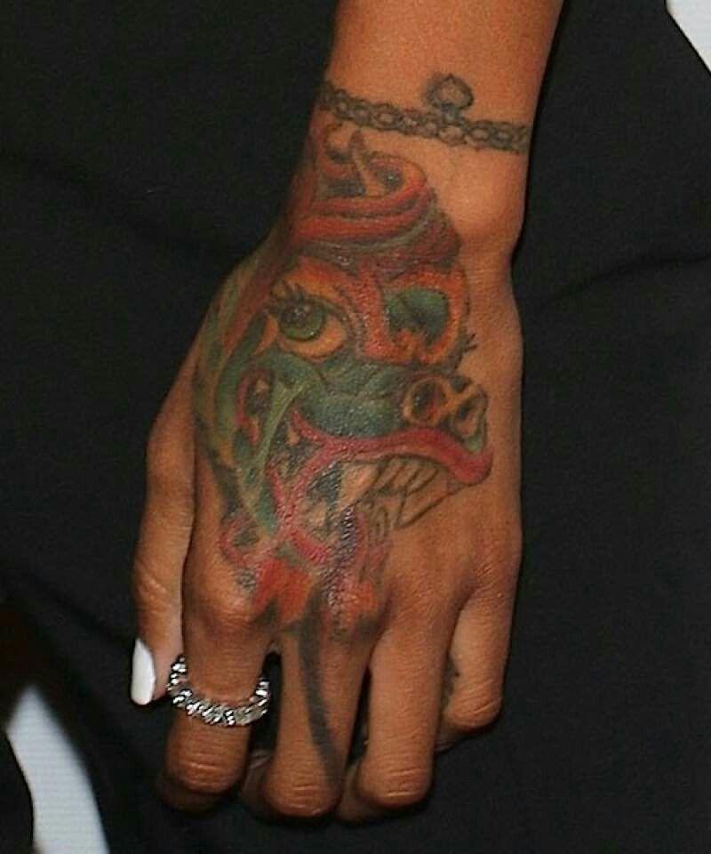 Karrueche Tran Dragon Hand Tattoo Tattoos Wrist Tattoos Dragon Hand Tattoo