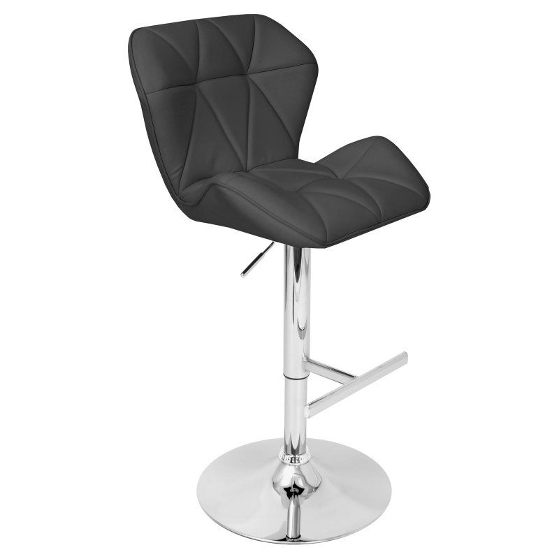 LumiSource Jubilee Adjustable Bar Stool - BS-ST-JUBL BK