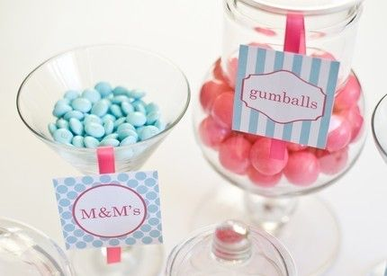 Candy Bar or Buffet Labels: by greenapplepaperie on Etsy