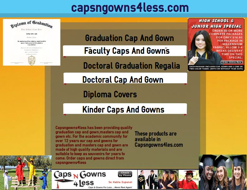 Capsngowns4less providing faculty caps and gowns and doctoral tams ...
