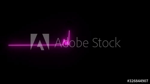 Stock Footage Of Cardiogram Heartbeat Pulse Glowing Purple Neon Light Loop Animated Background Heart Rate Loopable Ani Animation Background Neon Lighting Neon