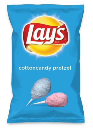 Wouldn't cottoncandy pretzel be yummy as a chip? Lay's Do Us A Flavor is back, and the search is on for the yummiest flavor idea. Create a flavor, choose a chip and you could win $1 million! https://www.dousaflavor.com See Rules.
