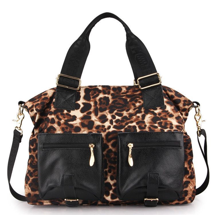 2015 Women Leopard Handbags Casual Genuine Leather Shoulder Bags Doodle Messenger Bags Characters Cross Body Bags Large Bolsas