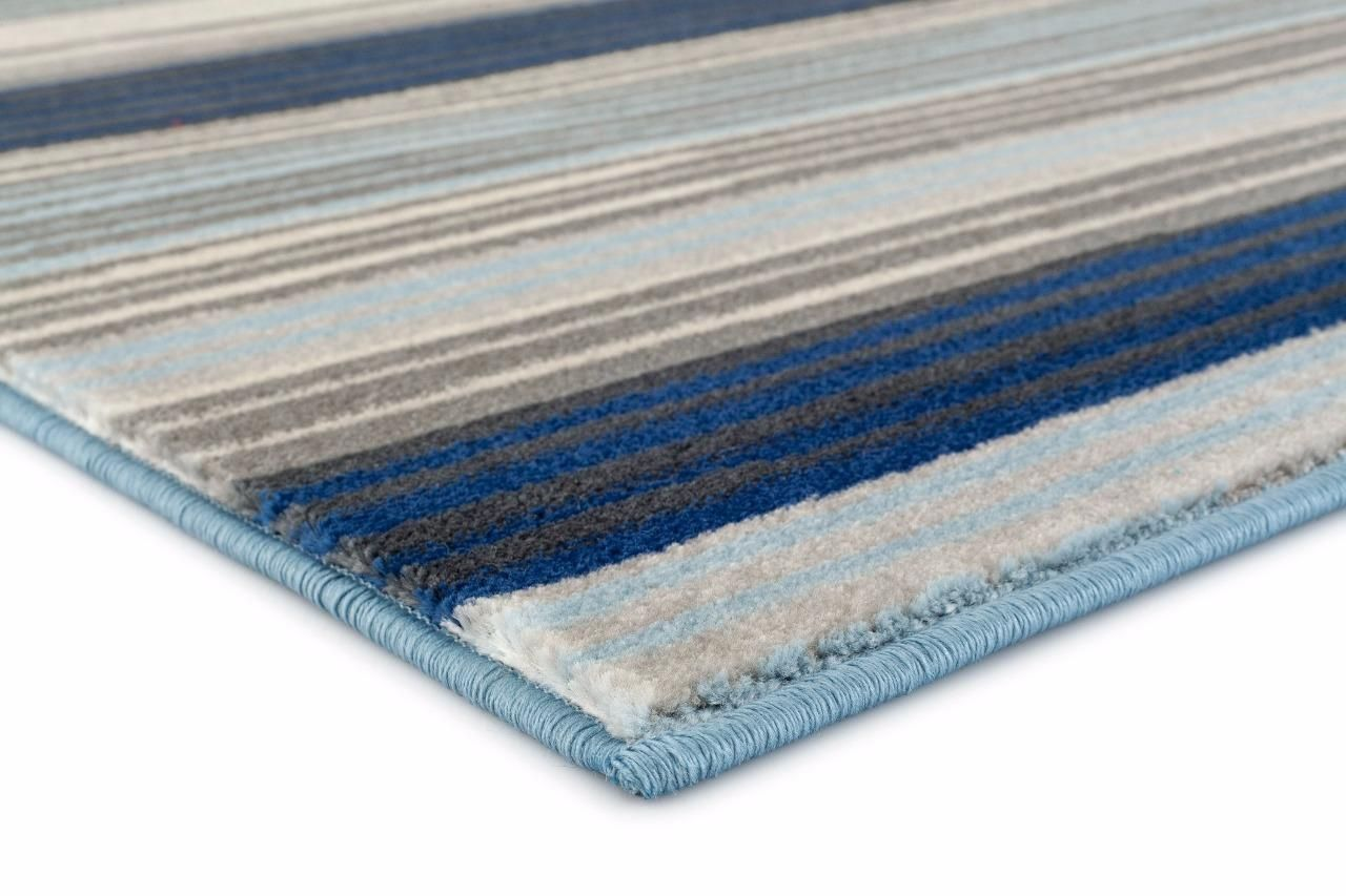 Blue Striped Modern Area Rug Modern Area Rugs Area Rugs Abstract Rug