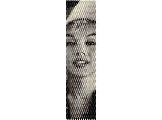 Schema peyote Marilyn Monroe (PDF per bracciale) di AntosCreations su Etsy