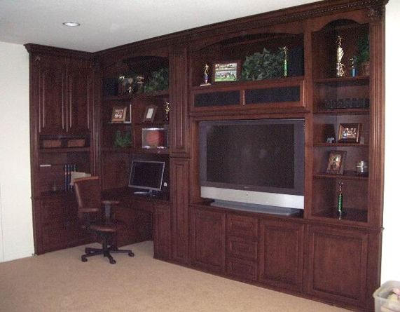 Home Office And Built In Wall Unit Combination