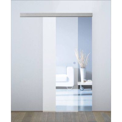 Porta da interno scorrevole Orlando satinato 86 x H 215 cm ...