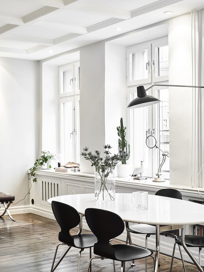 my scandinavian home Artfully hidden TV in a lovely Swedish space