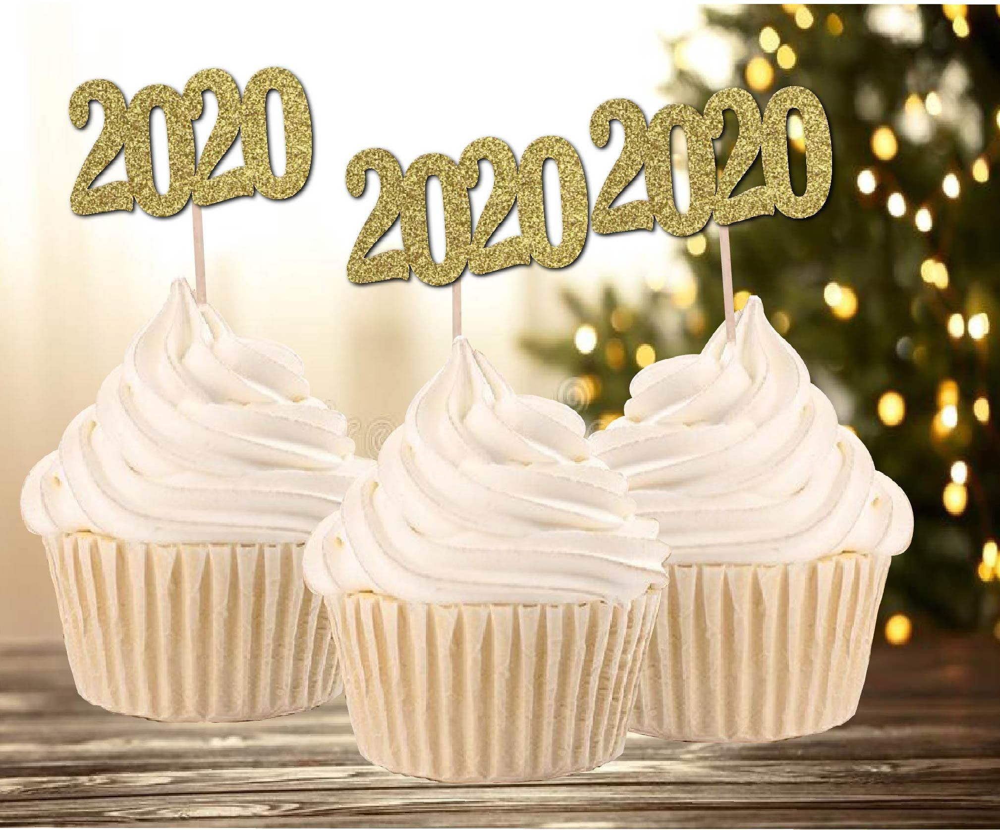 2020 Graduation Cupcake Toppers 12 Set New Years Eve