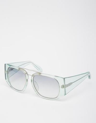 alexander wang transparent frame sunglasses green #sunglasses ...