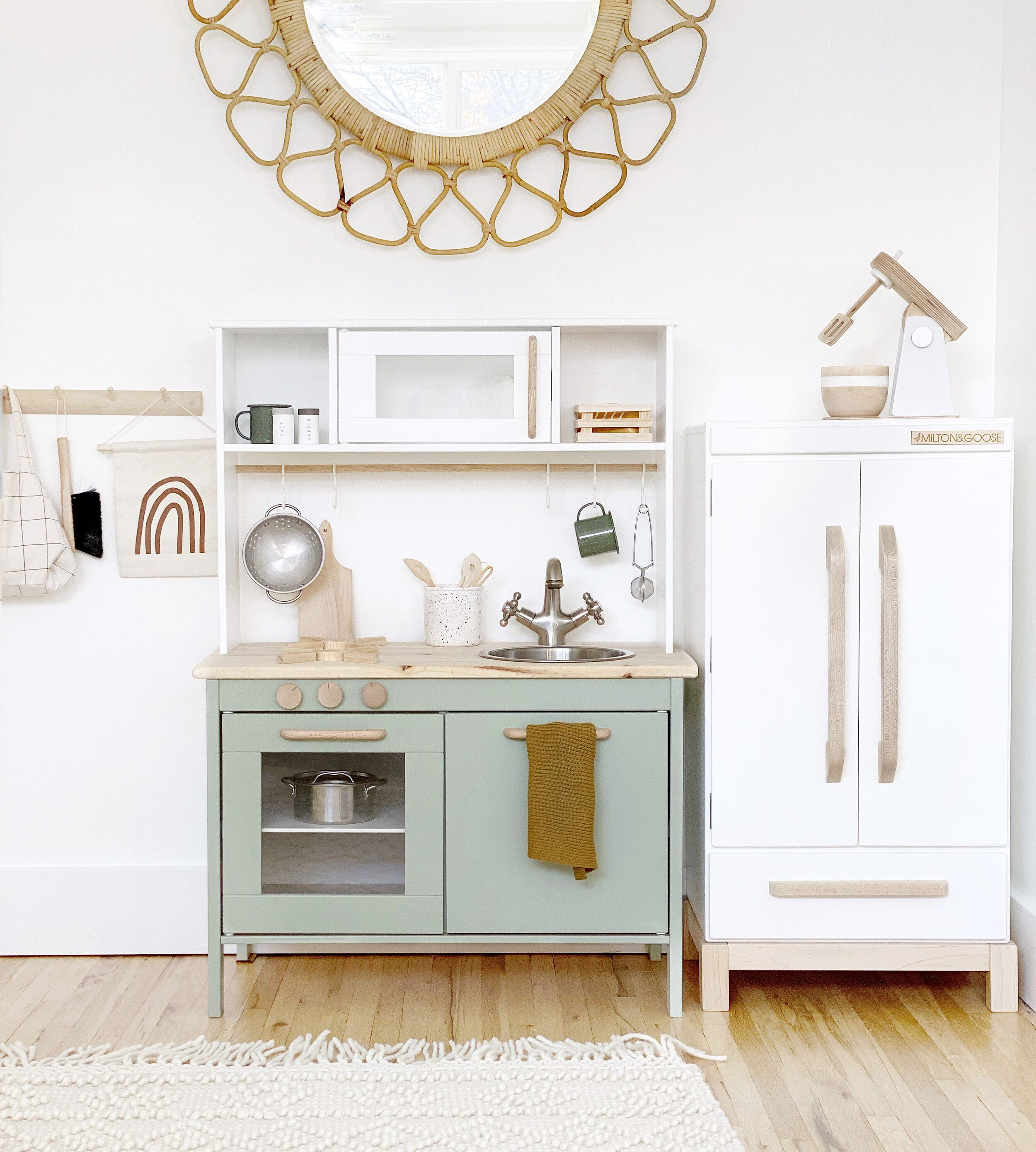 Ikea play kitchen hack Ikea play kitchen, Kitchen hacks