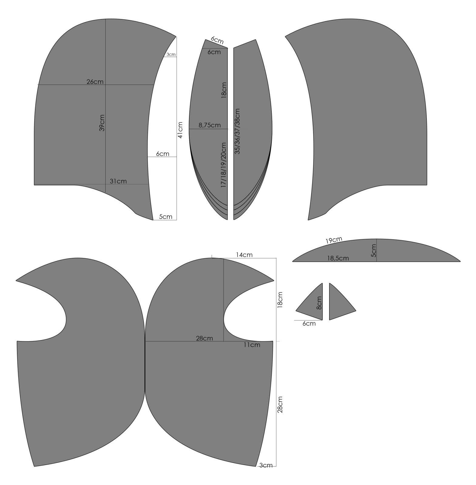 Image result for sewing pattern for leather executioner mask ...