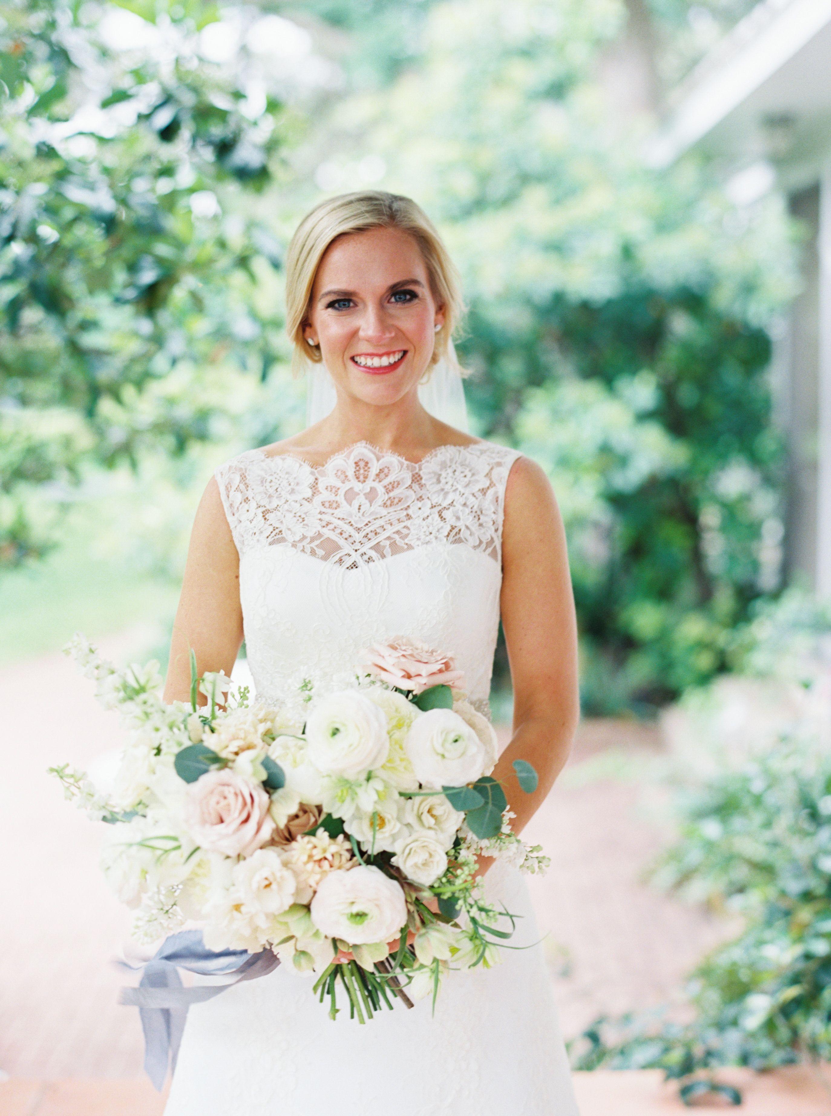 Green and white wedding dress  Lush Garden Wedding With Greens Galore  Lush garden LUSH and Florals