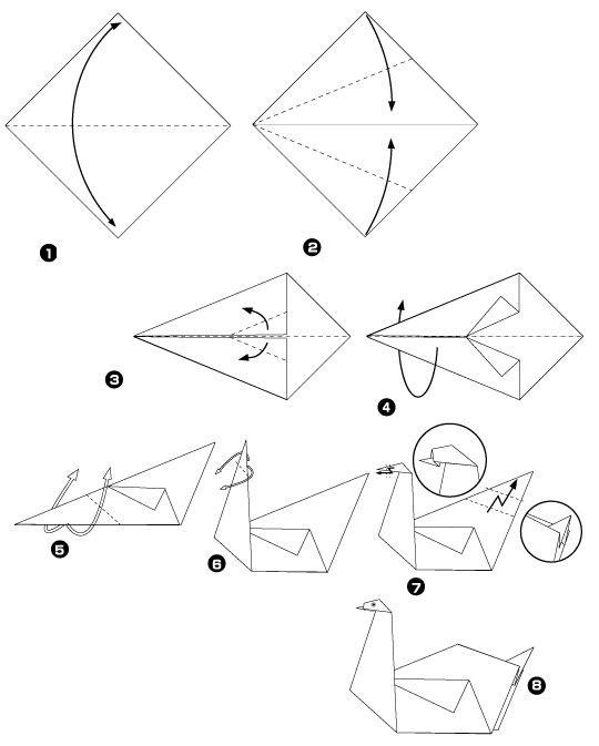 tuto origami animaux recherche google cosas pinterest correspondant cygne en origami et. Black Bedroom Furniture Sets. Home Design Ideas