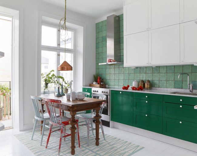 cocinas frescas y dulces -comedor de cocina pequeño mesa y sillas ...