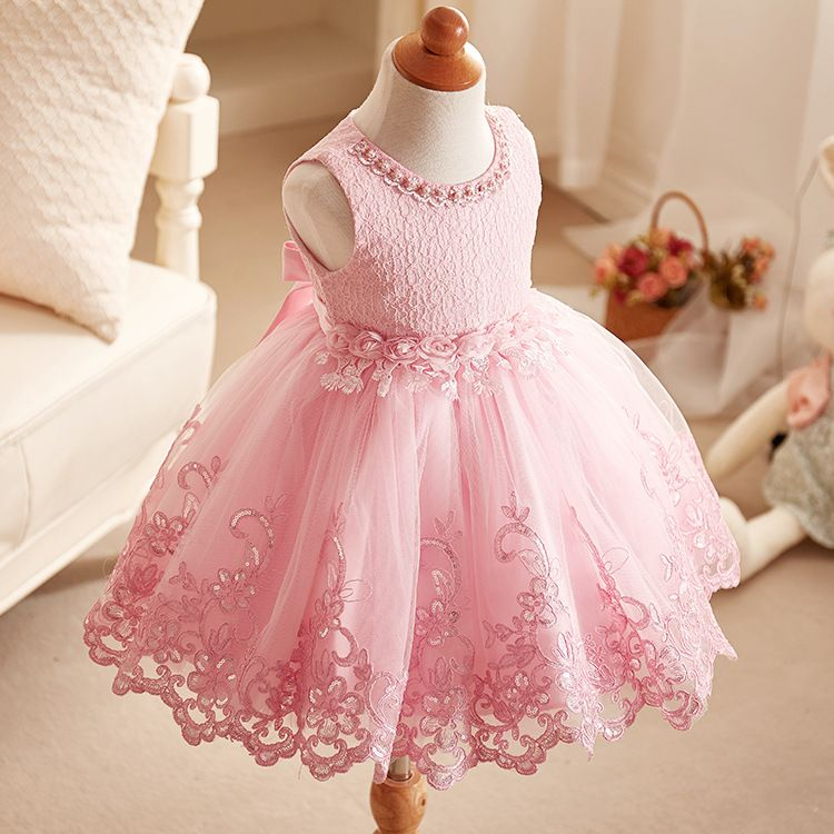 7bc19efa7bf9 baby Girl Lace Christening Gown 2017 Newborn Baby Girls pearl Gift ...