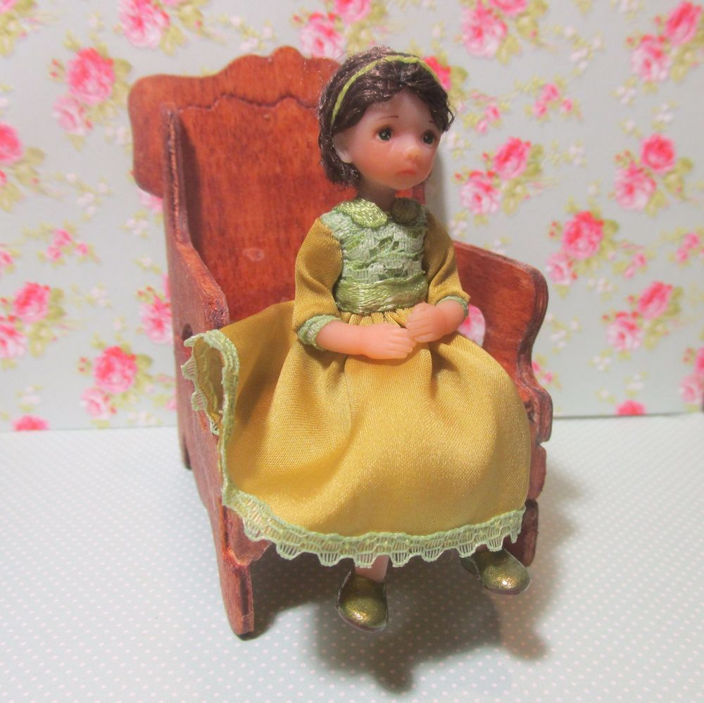Miniature handmade BABY GIRL OOAK polymer clay 1/12 SCALE