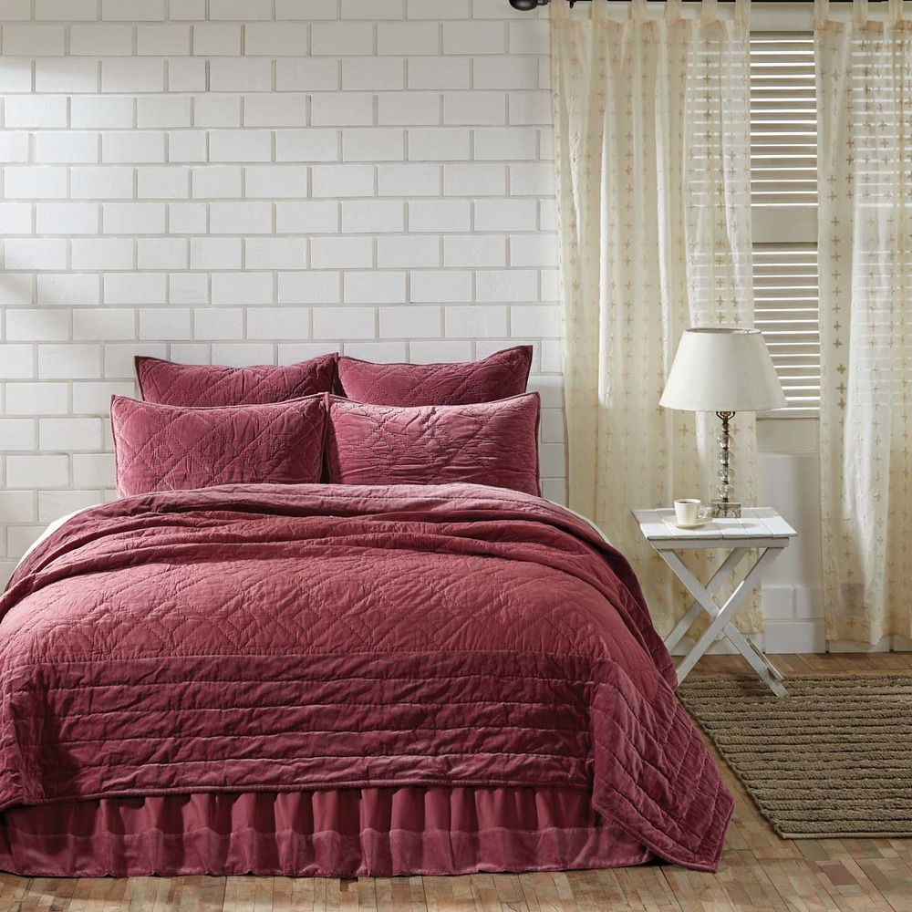 European Inspired King Size Quilt 100 Cotton 95X105