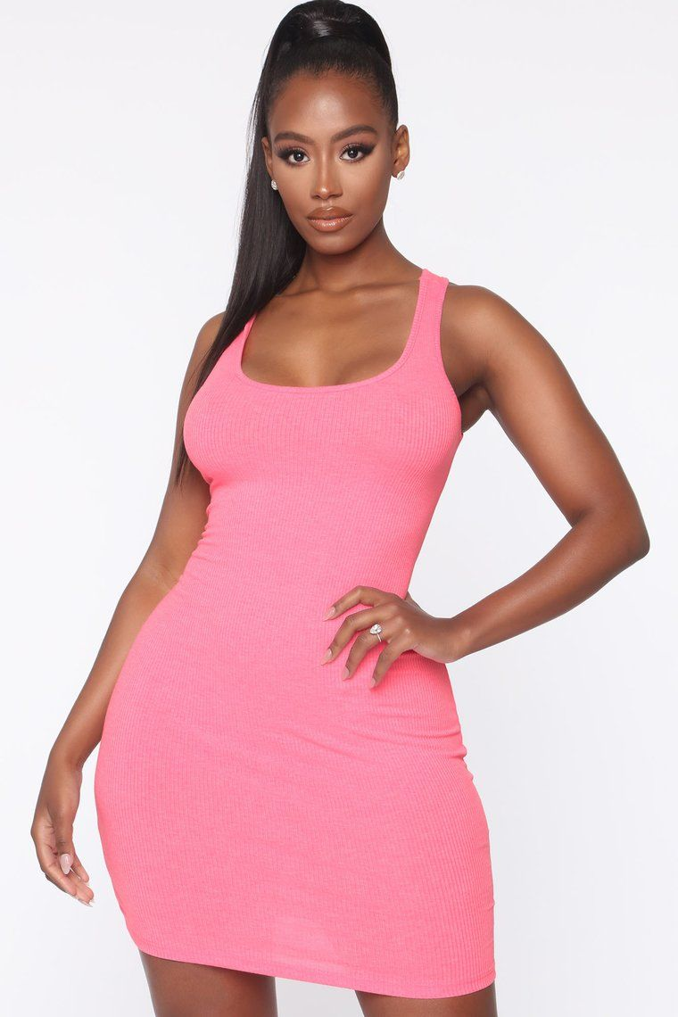 Holland Bodycon Dress Neon Pink in 2020 Bodycon dress