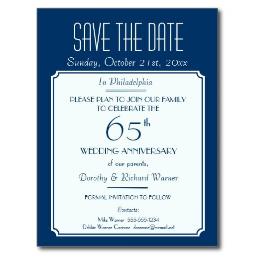 party event or reunion save the date in blue announcement postcard