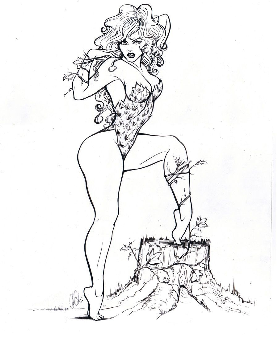 poison ivy coloring pages Poison Ivy Coloring Pages Adult | Poison Ivy by Carliihde on  poison ivy coloring pages