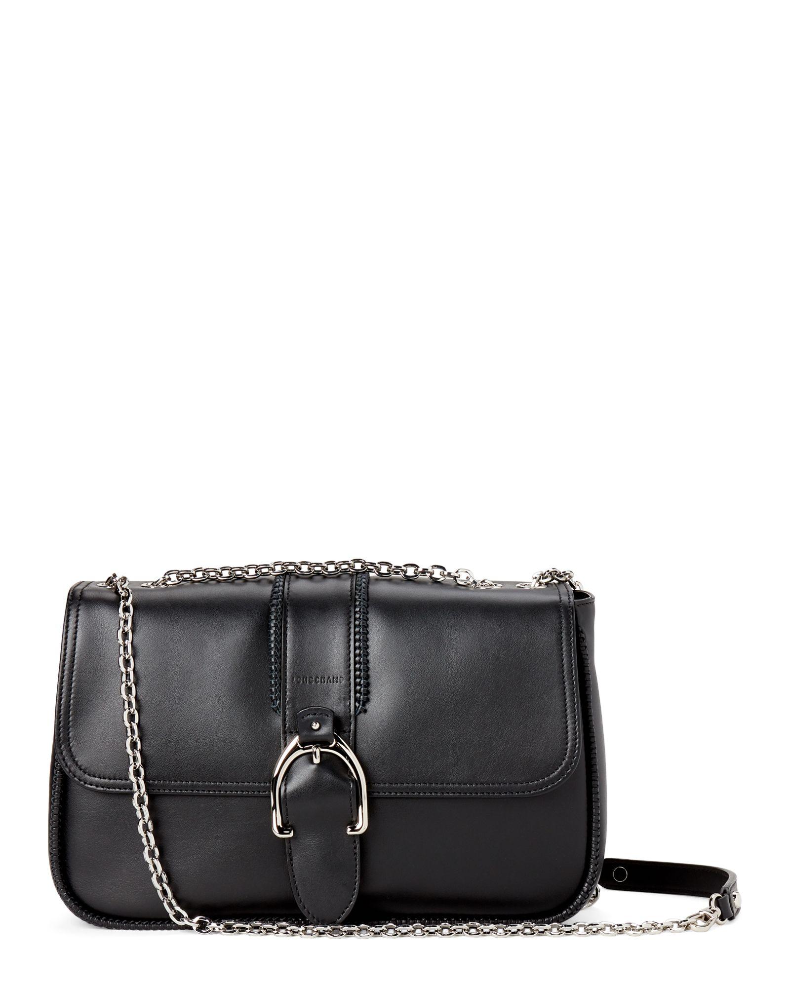 Longchamp Black Amazone Shoulder Bag | Bags, Shoulder bag, Hobo bag