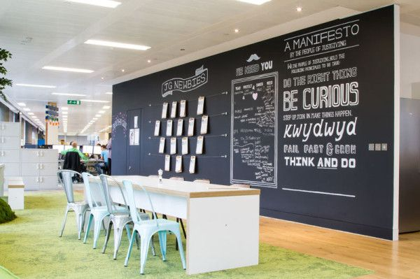 Peldon Rose Gives Justgiving Brand New Multifunctional Offices Creative Office Space Design Office Interiors