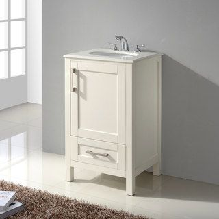 Wyndenhall Hartford 20 Inch Contemporary Bath Vanity In Soft White