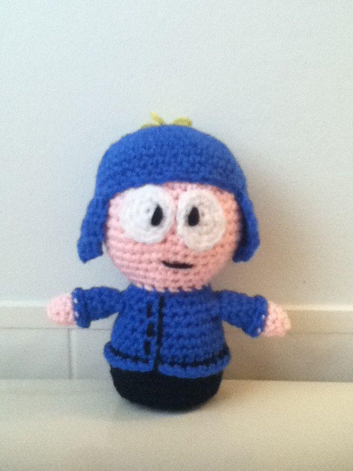 Crochet Amigurumi Little Boy with Blue Ear Flap Hat Doll