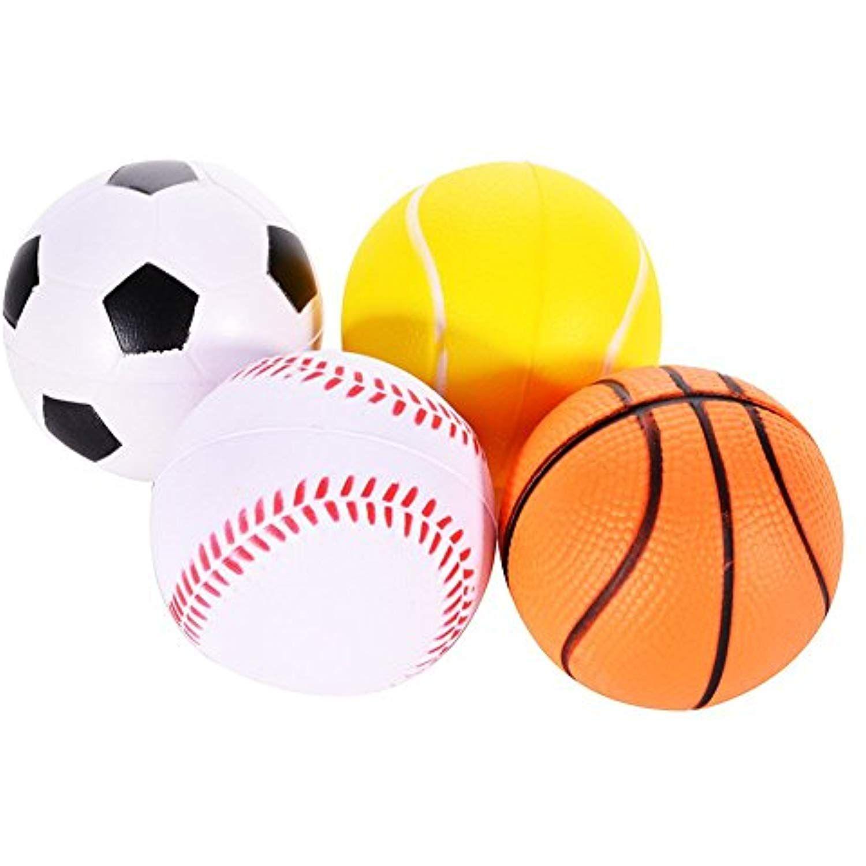Emorefun Soft Pu Mini Sports Balls For Kids Basketball Football Tennis Golf Novelty Stress Relief Ball Fidget To Sports Sports Games For Kids Sports Balls