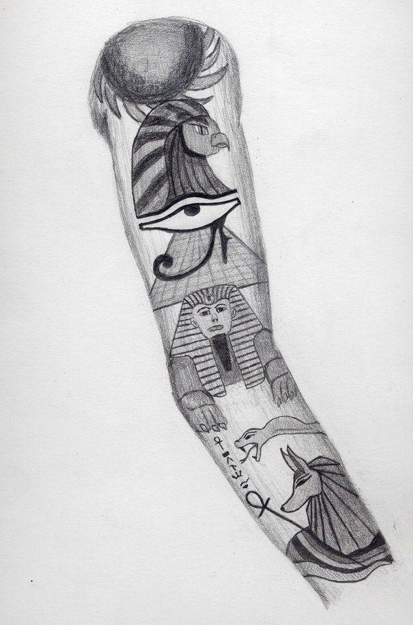 Egyptian Sleeve Tattoo Design Egyptian Tattoo Egypt Tattoo Tattoo Sleeve Designs