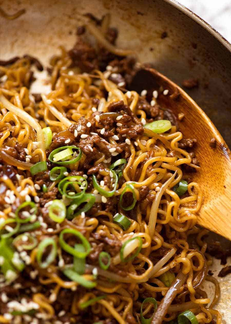 Quick Asian Beef Ramen Noodles Recipe Asian Beef Food Beef And Noodles