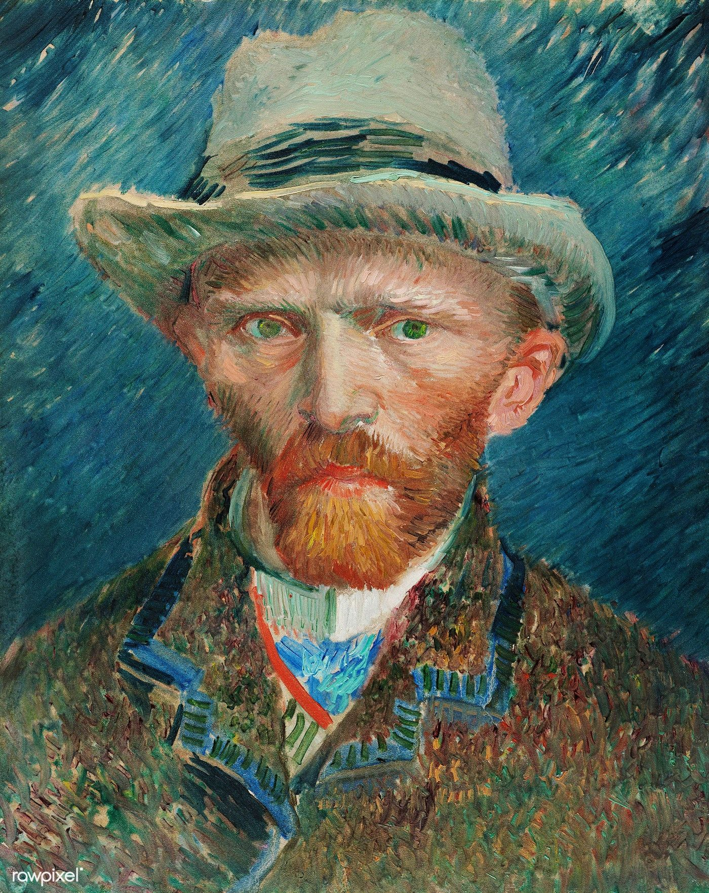 Self Portrait 1887 By Vincent Van Gogh Original From The