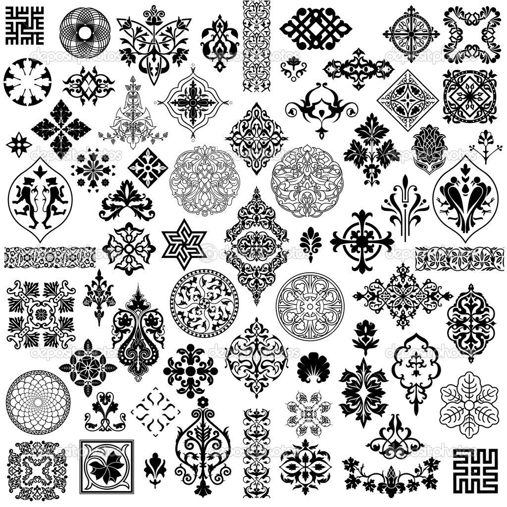 Delightful The Style Of Ancient Pattern Vector Free Vector