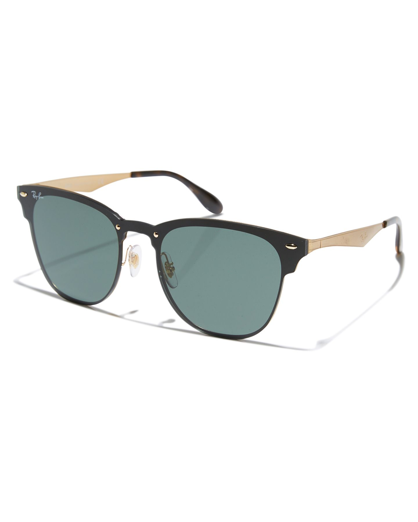 78c7787b2ba Ray-Ban Clubmaster Blaze Sunglasses - Brushed Gold