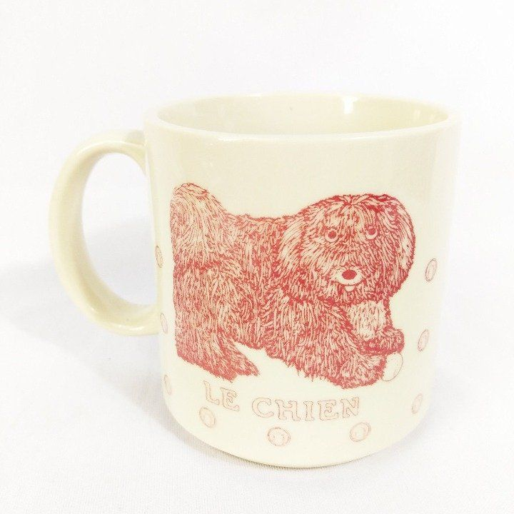 Cool item le chien vintage coffee mug the dog 1984 with