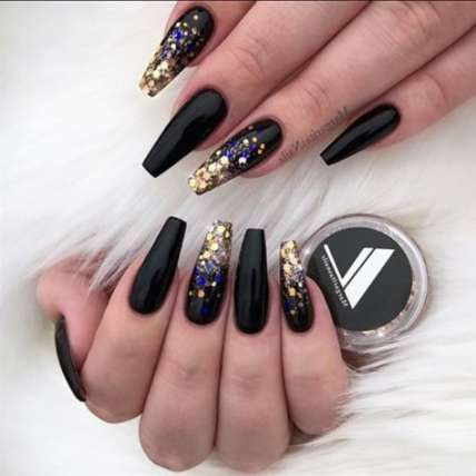 35 ideas nails black oval simple for 2019  black nail