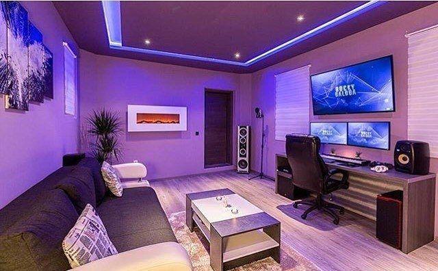 pin von 1 1 1 auf gaming pinterest zocker zimmer wohnzimmer und spielzimmer. Black Bedroom Furniture Sets. Home Design Ideas