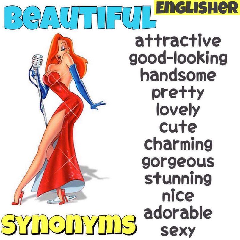 Synonyms: BEAUTIFUL | English vocabulary, English language ...