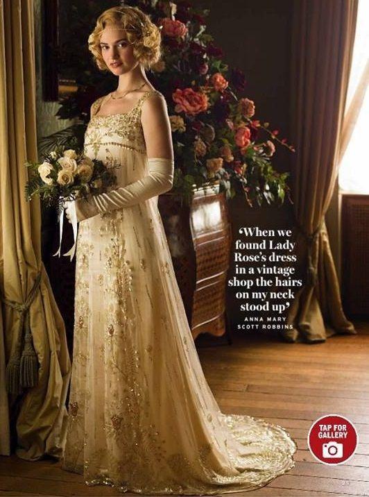lady rose - wedding gown - season five | downton abbey | pinterest