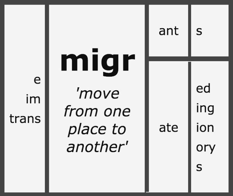 matrix   Words Words Words   Word structure, Word study