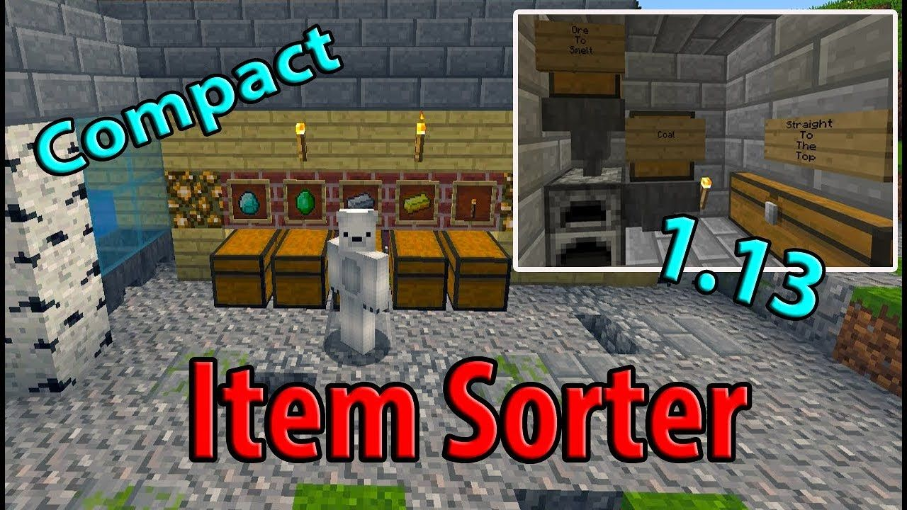 Minecraft Automatic Item Sorter | Easy Compact All versions +1 13 A