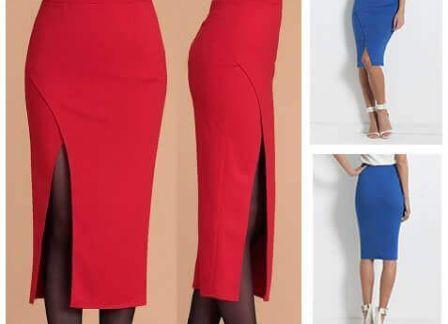 Patrón de Falda con pliegue lateral   Faldas con pliegues, Patrones ...