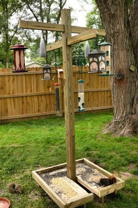 Grand Central Bird Feeding Station Love That They Included A Ground Feeder That Modern Design In 2020 Bird Feeder Station Bird Houses Bird Feeding Station