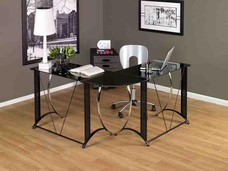 on sale 7c7d1 d8f88 Corner Studio Desk | Studio Desk | Glass desk, Modern office ...