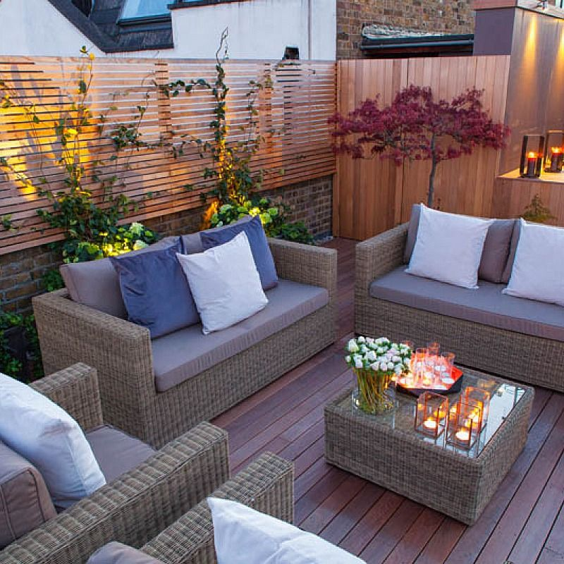35 Best Designs Terraced Front Yard Ideas: Roof Terrace Artificial Lawn